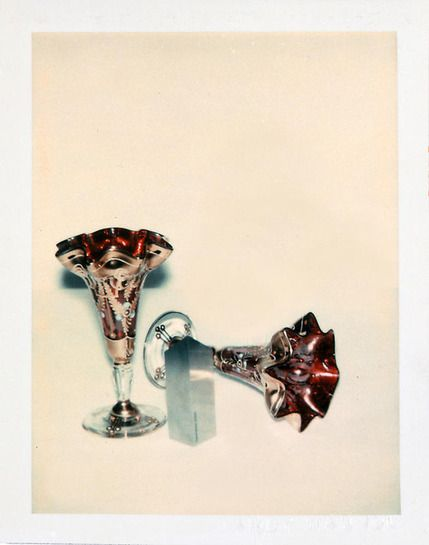 Andy Warhol Committee 2000 Champagne Glasses, 1982 polaroid photograph 4 x 3 1/4 inches; 10.2 x 8.3 cm PK 12381 [Paul Kasmin Gallery]