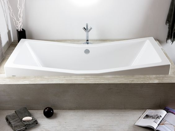 Hoesch foster 1800 double ended inset bath designed by for 1800s bathroom decor