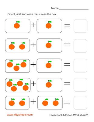 math worksheet : free printable preschool worksheetsfree worksheets kids maths  : Free Printable Math Addition Worksheets For Kindergarten