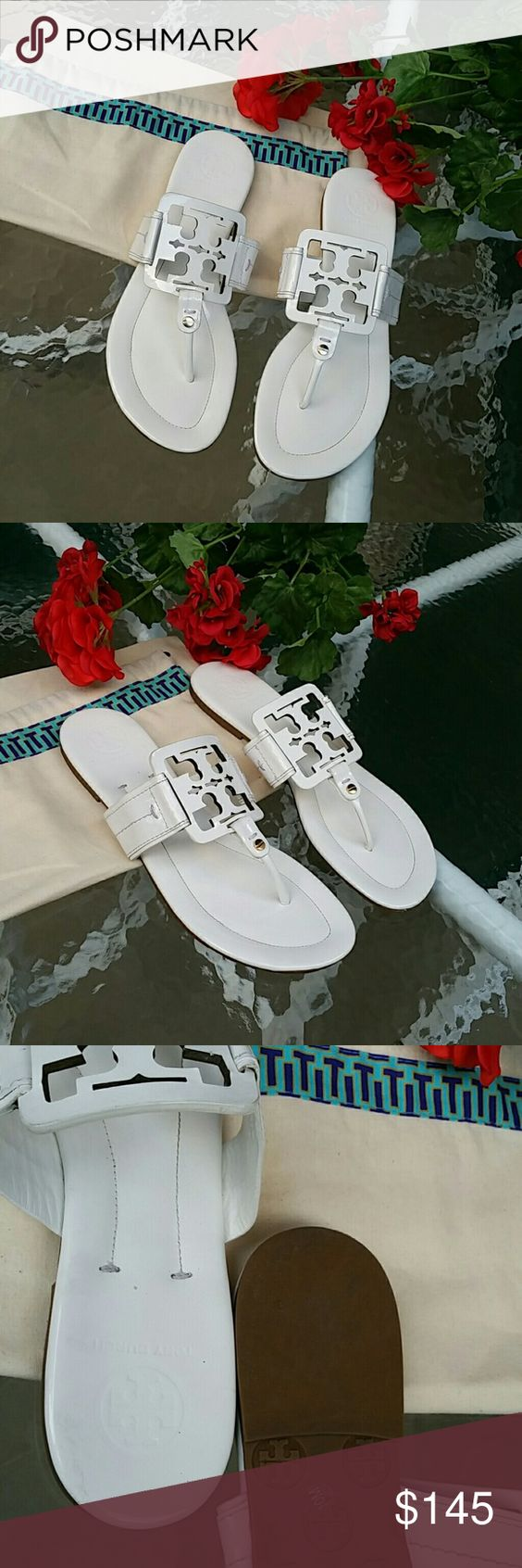 Tory burch miller square sandals Like new condition Tory Burch Shoes