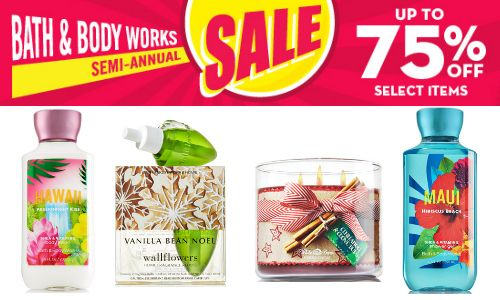 Bath and body works sale dates