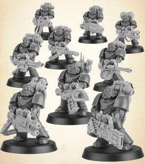 40K Space Marines Devastators Torso Front w// High Collar Front only Bits