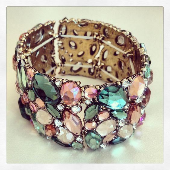 Brilliant gemstone bracelet. Love this for my bridesmaids.
