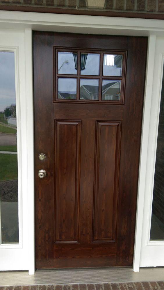 Metal door painted to look like wood certapro painters of - How to paint a steel exterior door ...