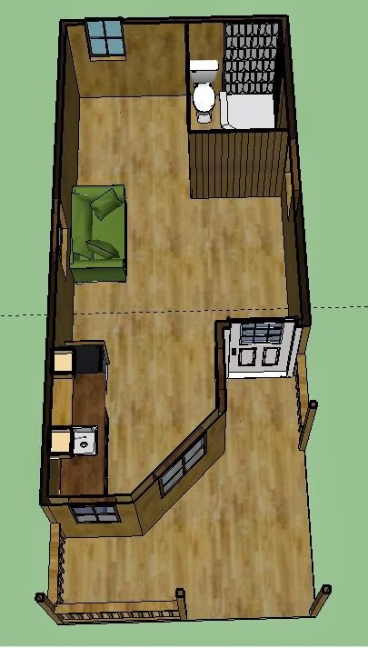 Deluxe lofted barn cabin floor plan these are photos of for Lofted cabin plans