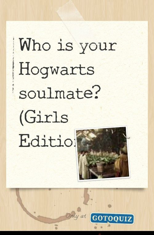 Who Is Your Hogwarts Soulmate Girls Edition My Result Ginny Weasley Hogwarts Hogwarts Teachers Slytherin And Hufflepuff