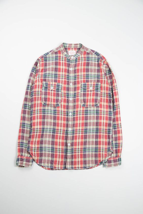 Band collar mill shirt from The Bureau