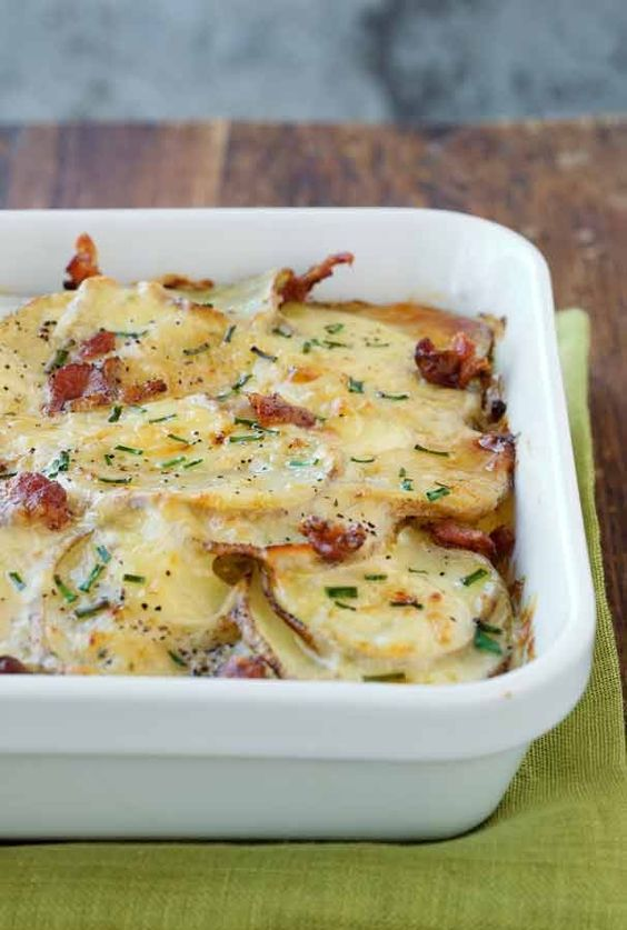 Forget the mashed potatoes. Serve Buttermilk Ranch Potato Gratin, dotted with bits of bacon and topped with Parmesan cheese, as a Thanksgiving side dish this year.
