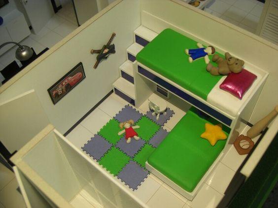 Dormitorio infantil. Maqueta. maquetasquevedo@yahoo.com