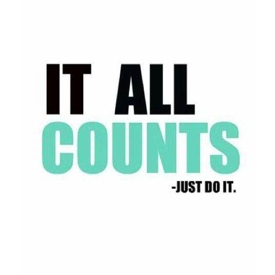 It all counts.