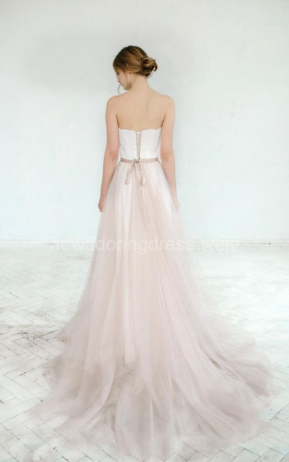 US$104.28-Sexy Blush Wedding Gown Dahlia 2 Pieces Wedding Dress Backless. https://www.newadoringdress.com/blush-wedding-gown-dahlia-2-pieces-dress-p711723.html.  Free Custom-made & Free Shipping at best wedding dresses, Lace wedding dress, modest wedding dress, strapless wedding dress, backless wedding dress, wedding dress with sleeves, mermaid wedding dress, plus size wedding dress. We have great 2016 fall Wedding Dresses on sale at #NewAdoringDress.com today!