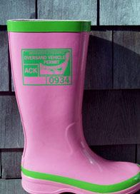 Pink And Green Rain Boots - Cr Boot