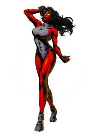 Mulher Hulk Vermelha