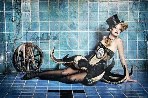 """""""Kraken, mermaid & lady neptun"""" von Sarah Tröster– dasauge® Werkschau"""