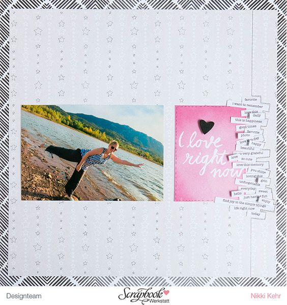 Schnipsel-Layout by Nikki Sweet Caterpillar