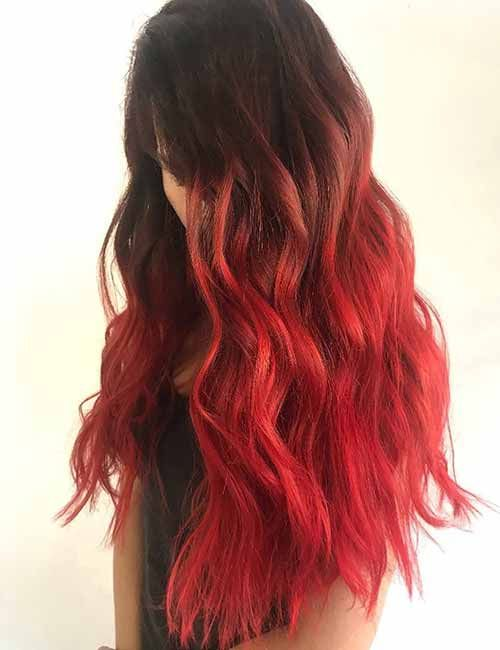 Hair Color Trends For 2021 Red Ombre Hairstyles Pretty Designs Hair Styles Red Ombre Hair Brown Ombre Hair