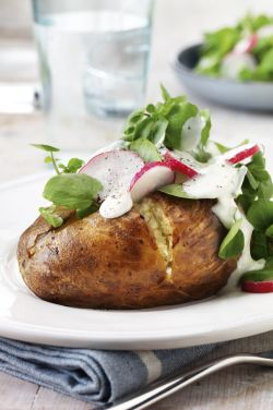 ... green salad recipes dishmaps sausage stuffed potatoes a green salad
