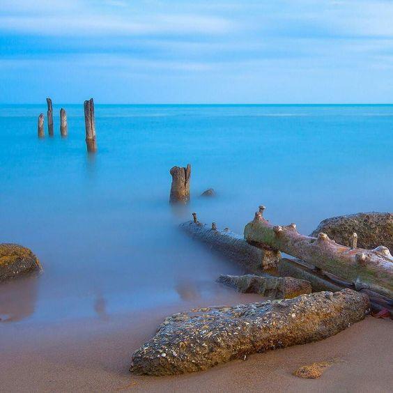 Rocks And Wooden Pillars (by hrusdi)