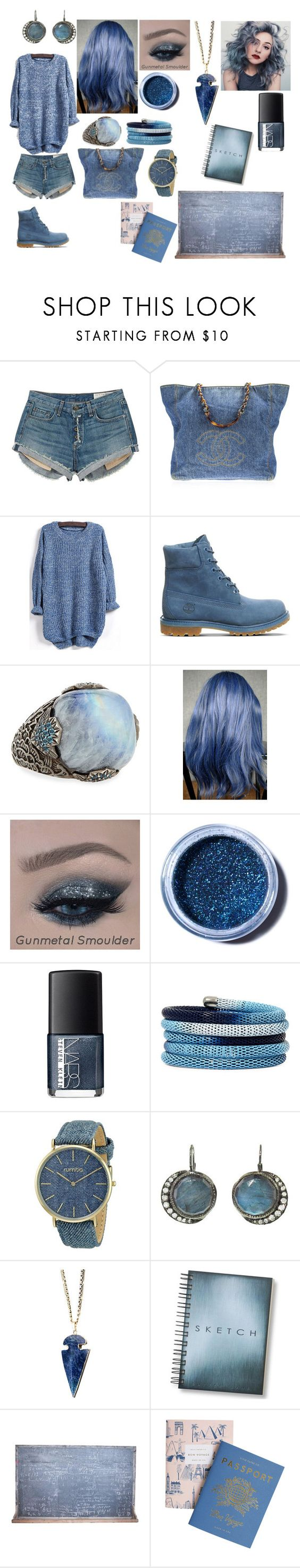 """""""Untitled #605"""" by thestyle-chic ❤ liked on Polyvore featuring rag & bone, Chanel, Timberland, Stephen Dweck, Lime Crime, NARS Cosmetics, Nicole By Nicole Miller and RumbaTime"""
