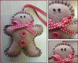 Felt Gingerbread Man Ornaments