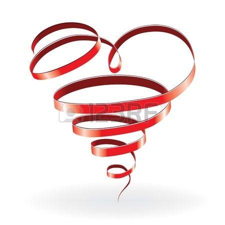 Cuore di carta di amore San Valentino fondo con nastro Archivio Fotografico