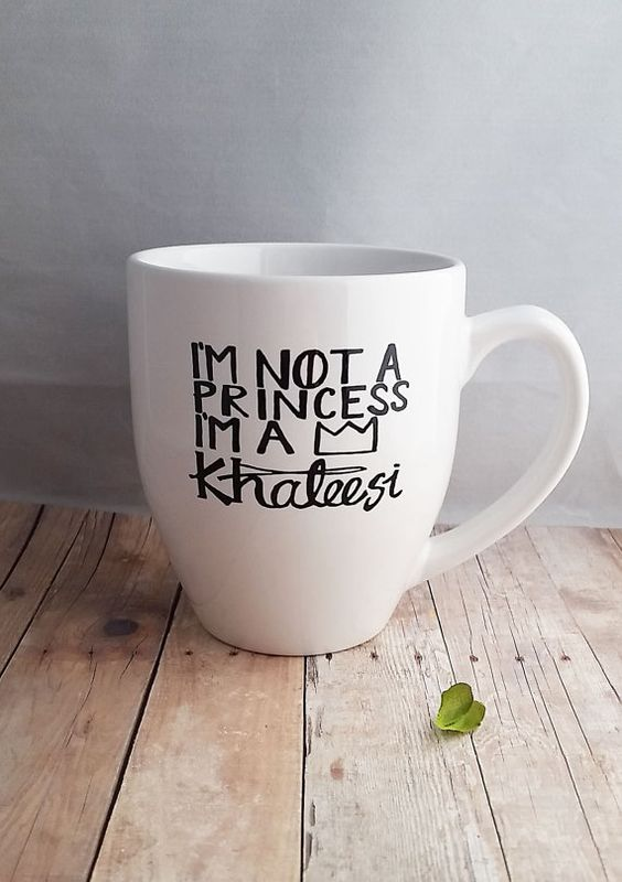 This 12-ounce mug would make an amazing gift for the Game of Thrones fan in your life!! Khalessi is beautiful, powerful and one of my favorite