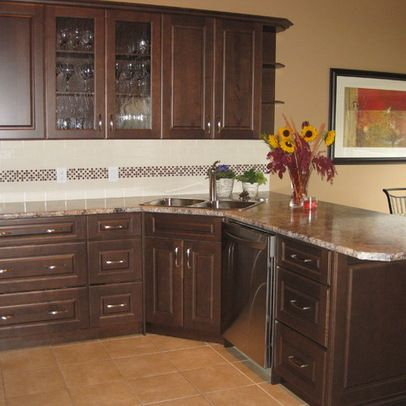Kitchen Corner Sink On Peninsula Move Sink To Corner Dishwasher Over And Add Drawers At The