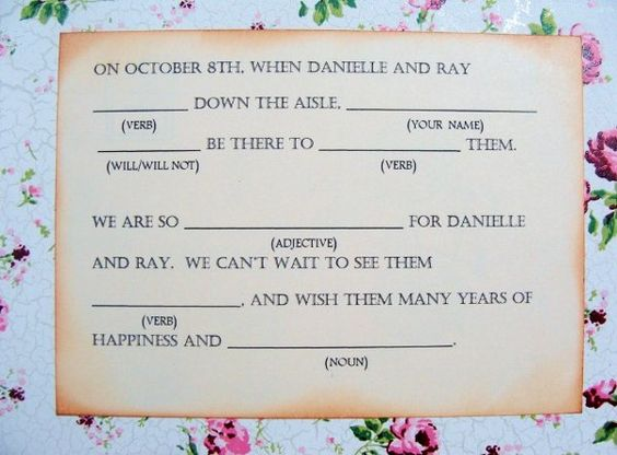 Invitations, make a book out of them for funny memories.