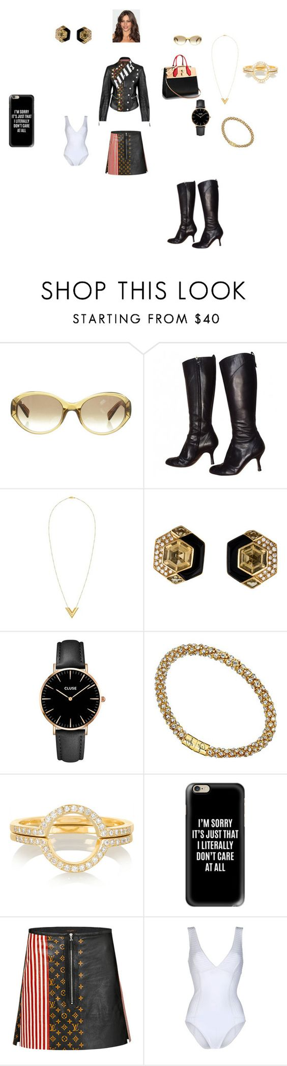 """Todo es acerca de mi ( It's all about me) Made by Mom"" by theultrafighter ❤ liked on Polyvore featuring Louis Vuitton, CLUSE, GUESS, Ileana Makri, Casetify and Gentryportofino"