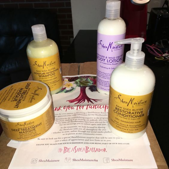 "@sheamoisture4u  Thank you so much  #sheamoisture #beasheabassador ""I wasn't chosen but I was given these gifts from the staff at #sundialbrands wow I'm so appreciative for your generosity!"" Again, thank you so much  #rawsheabutter #lavenderwildorchid #beautyproducts #personalcareproducts"