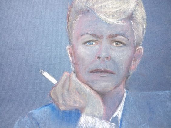David Bowie - tekening - pastel