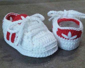 Resultado de imagen de zapatillas adidas a crochet | Zapatos