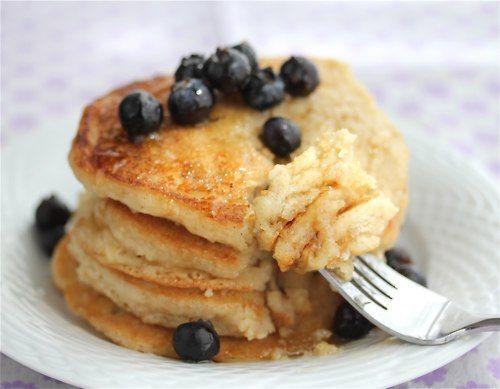 Low-Cal Vegan Pancakes for One: Gluten Free Vegan, Vegan Breakfast, Vegan Pancakes, Vegan Pancake Recipes, Dairy Free, Free Recipes