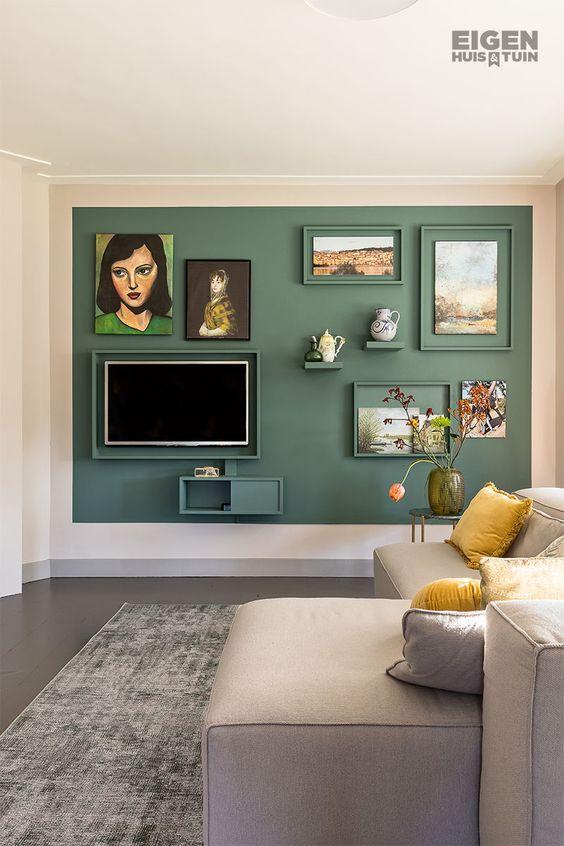 テレビ 壁掛け リビング コーディネート例