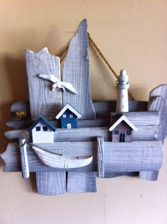 Driftwood Art by Reincarnatedbylisa on Etsy, $15.00: