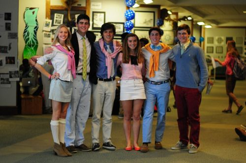 Quincy, Riley, Martin, Natalie, Avery and Lawson Spirit Week - Preppy Day It's…