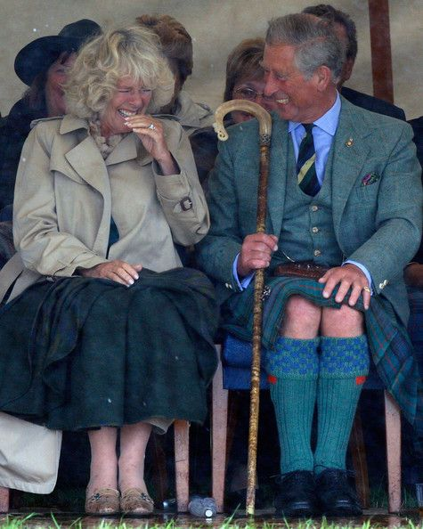 Charles And Camilla another different shot of her cracking up at the Mey Games at Highland