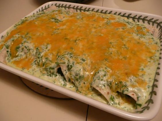 Jalepeno's is a popular Mexican restaurant in Houston, Texas.  Their spinach enchiladas are one of the most popular entrees on their menu.  This recipe was posted in the Houston Chronicle.