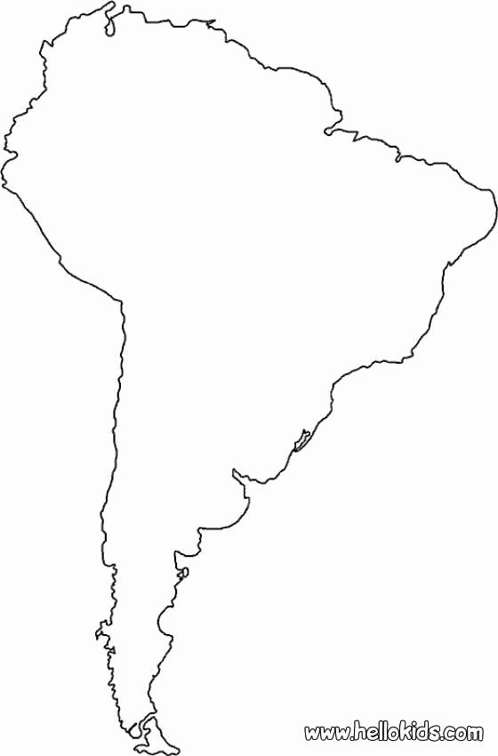 North America Coloring Page Inspirational Maps Coloring Pages South America South America Map America Map Coloring Pages