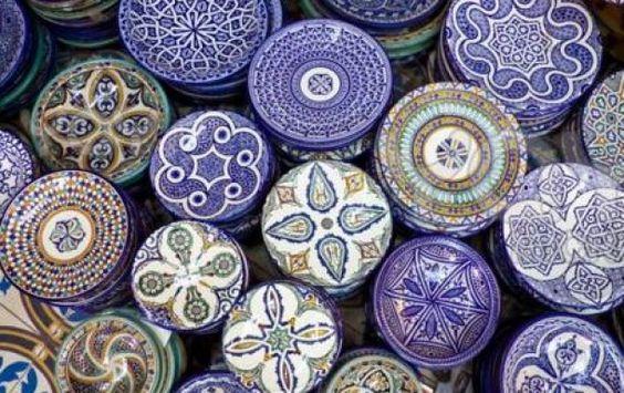 marokkaans | Mooie blauwe servies, ook verkrijgbaar in andere kleuren. Door festival37