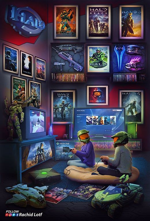 All Of Our Friends Who Have Sleeping Avatars On Xbox 360 That Will Never Wake Up Halo Retro Gaming Art Gaming Wallpapers Game Art