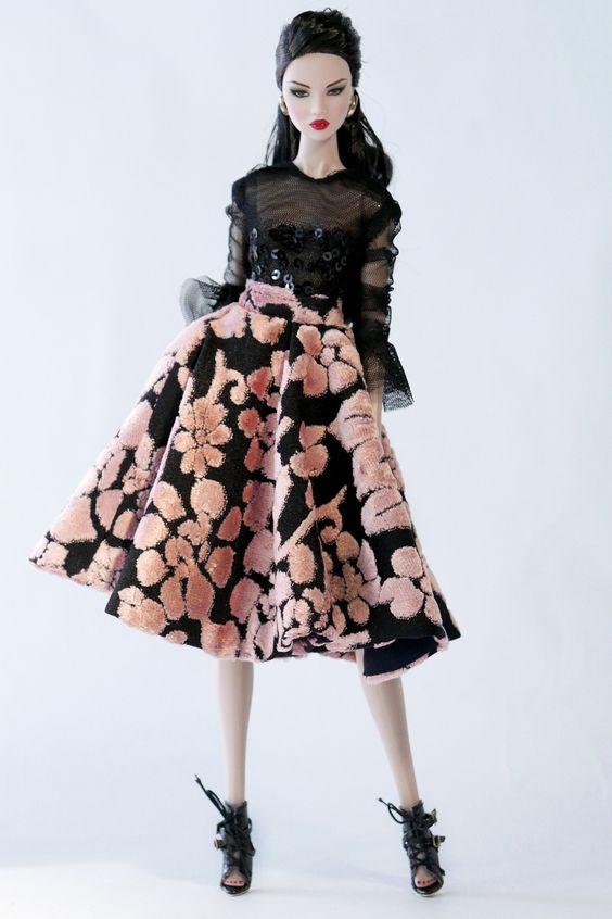 Cherry pink floral velvet set | by V.JHON:
