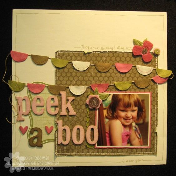 Stampin' Up!  Scrapbook Layout  Tessa Wise