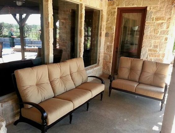 Mallin Westfield Sofa And Loveseat Enjoy Your Outdoor Room   Yard Art Patio  U0026 Fireplace