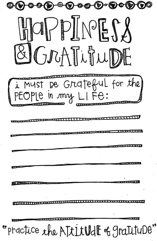 Free Printable Happiness Gratitude List from Homegrown – Gratitude Worksheets