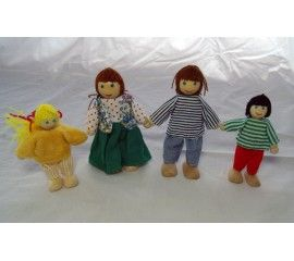 """Doll Family now in stock. Father and Mother dolls are 4 1/2"""""""