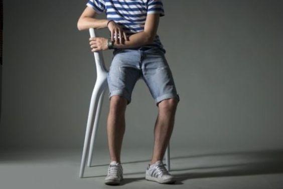 Tabouret de bar gris - Sledge