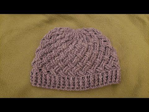 The Celtic Weave Hat Crochet Tutorial Youtube Crochet Hats Crochet Hats Free Pattern Crochet Hat Pattern
