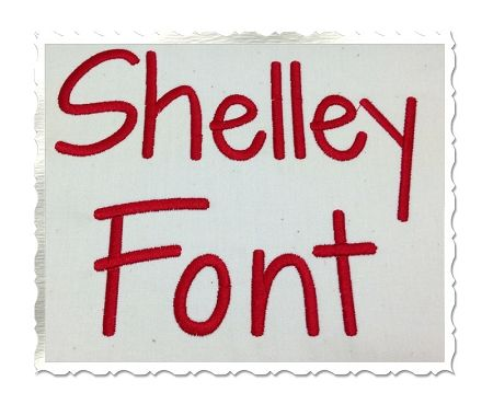 $2.95Shelley Machine Embroidery Font Alphabet