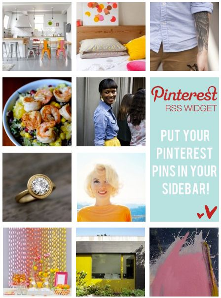 A pretty way to put your Pinterest pins in your blog sidebar.